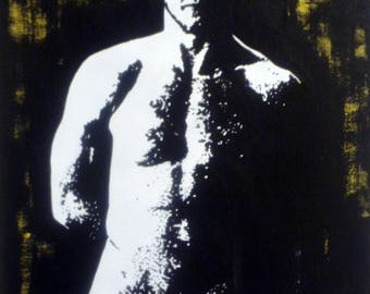 """Male Nude #62 The Ginger"""" Acrylic Painting 20x16"""""""