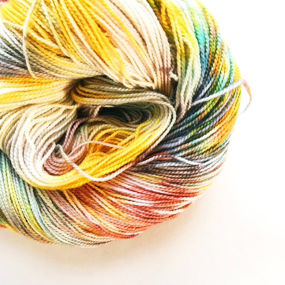 SPICE BOX hand dyed yarn merino wool fingering sock yarn