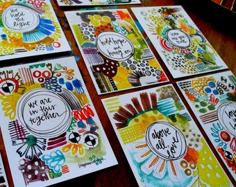 togetherness set of 9 - wisdom cards - 2.75 x 3.75 inches