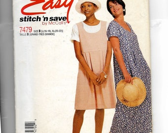 McCall's Misses' Dress In Two Lengths Pattern 7479