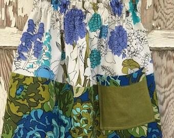 SALE- Flea Market Skirt- Eco Friendly Reclaimed Fabrics-Womens-XS