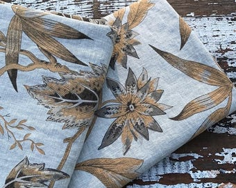 ECLIPSE SALE- Earthy Nature Fabric-Reclaimed Curtain Linen Fabric