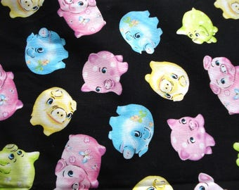 Little Pigs Cotton Woven Fabric