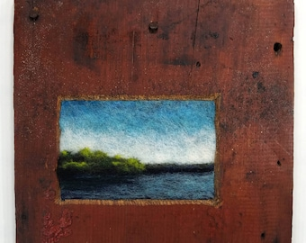 Water Study in Red barn Wood