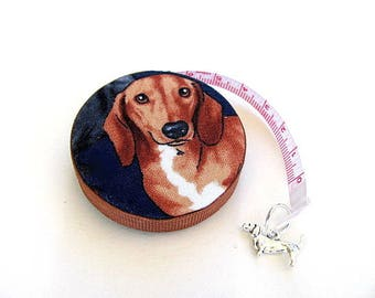 Retractable Tape Measure Realistic Dachshunds  Measuring Tape