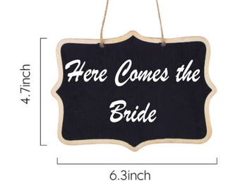 Here comes the bride sign, wedding sign