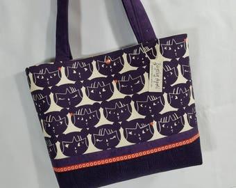 Japanese Kokeshi Dolls Faces purse tote bag