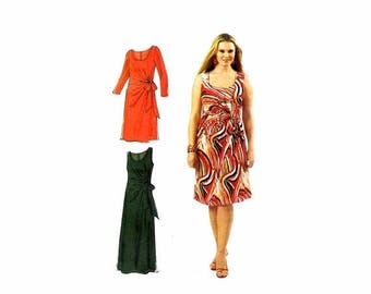 SALE Womens Fitted Dresses McCalls 6363 Sewing Pattern Full Figure Size 18 - 20 - 22 - 24 Size 18 - 20 - 22 - 24 UNCUT