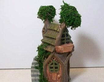 SALE 20% MINIATURES Miniature garden Tree house with moss: Fairy, gnome, terrarium house
