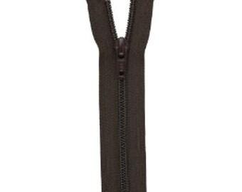 YKK Nylon Coil Boot Non-Separating Zipper 22 inch Black