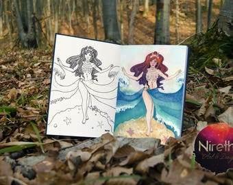 Ocean Goddess Coloring Page