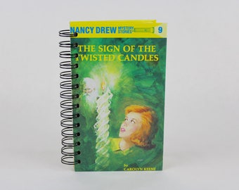 Book Journal -Nancy Drew and the Sign of the Twisted Candles-blank journal made from a recycled vintage book by Rebound Designs