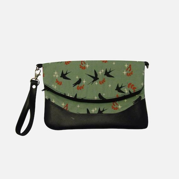 Swallow Handmade Clutch crossbody purse