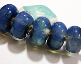 Borosilicate Lampwork Beads BLUE SKY Two Sisters Designs 060417E