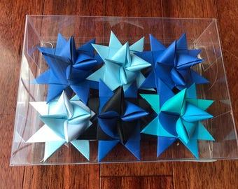 Moravian Paper Star Ornaments ~Blues (3 inch)