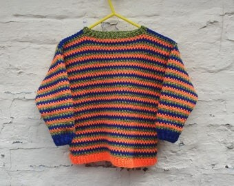 Crochet Pattern for Child's Sweater - PDF Instant Download