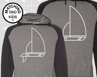 SALE! Matching Dad & Daughter Sailboat Hoodies | Father Son Matching Shirts | Dad Son Matching Shirts | Sailing Gift | Daddy and Me