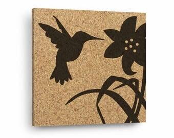 HUMMINGBIRD Mix & Match Cork Decor Art Tiles Or Kitchen Trivet - Wall DéCork