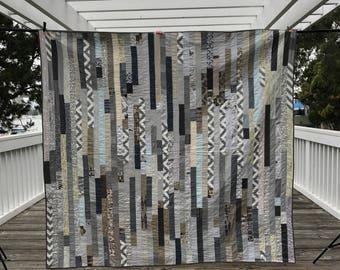 Gray stripes quilt