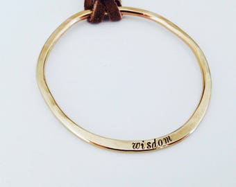 Golden Circle Necklace - Open Circle - NuGold Brass - Boho Style