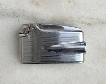 Vintage Ronson Varaflame Premier Lighter, 1960's, Chrome, Butane, Art Deco Design