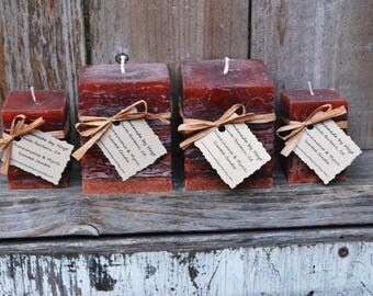 Frankincense and Myrrh Scented Square Pillar Candles
