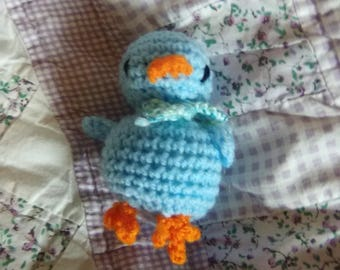 3in Blue Chick Toy