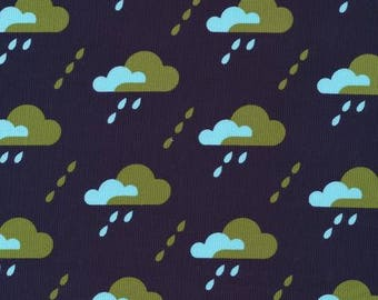 Jessica Jones for Cloud 9 ORGANIC FABRIC - Spring Quartet Corduroy - Droplet in Dark Navy
