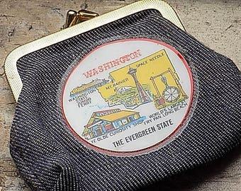 Vintage Maroon Leather Coin Purse M. London