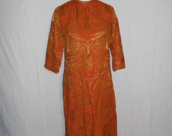Beautiful 70's Vintage  long Dress     boho bohemian hippy hippie gypsy