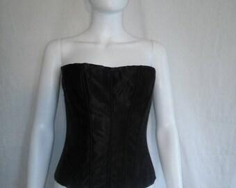 Closing Shop 40%off SALE Corset Bustier Bra 32 B, Vintage 90s Black Bra
