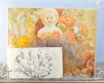 Notecard Set 8 Original Art Printed Frozen Charlotte Doll Pictures Postcard Set