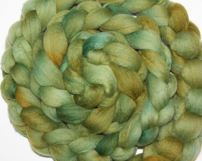 Kettle Dyed Merino Wool Top. Super fine. 19 micron  Soft and easy to spin. Huge 1/2lb Braid. Spin. Felt. Roving M318