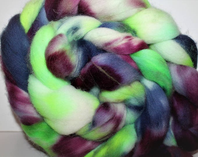 Kettle Dyed Cheviot Wool Top.  Easy to spin.  Great for felting. 1lb. Braid. Spin. Felt. Roving. C34