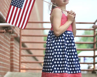 Baby 4th of July Dress - Baby Patriotic Dress -  Baby Dress -  Toddler Sundress -  Toddler Summer Dress - Baby Fourth of July Dress -Toddler