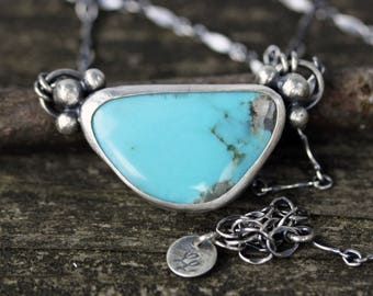 Campitos mine turquoise sterling silver necklace