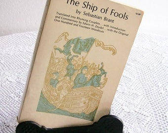 Vintage Literature Book The Ship Of Fools by Sebastian Brant Dover Publishing 1962