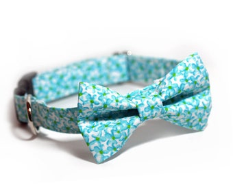 Floral Bow Tie Collar, Doggy BowTie Collar, Personalized Option - Garden Variety