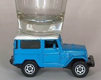 The ORIGINAL Hot Shot, Shot Glass, '68 Toyota FJ40 Land Cruiser, Matchbox car