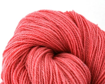 Mohonk Light Hand Dyed fingering weight NYS Wool 550yds 4oz Bubblegum
