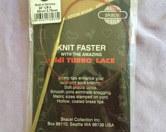 "US size 5, 24"" Addi Turbo Lace circular knitting needle"