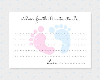50 Baby Reveal Advice Cards - Mommy to Be Wish Cards - Advice for the Parents to Be - Gender Neutral Advice Cards
