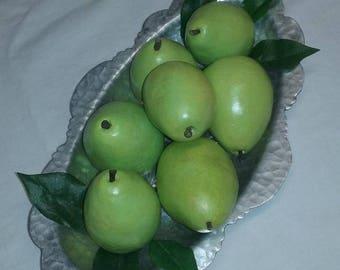 Seven artificial Pears
