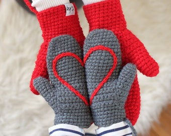 Mittens With Heart For Adult, Babies And Children