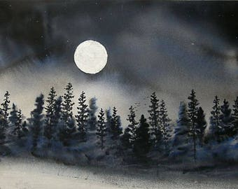 I Can Walk in Darkness FINE ART reproduction PRINT
