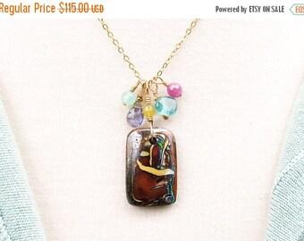 boulder opal necklace, boulder opal pendant, opal gift, opal jewelry, October birthstone Australian opal,Peruvian opal, ruby, gold gemstones