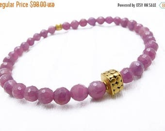 ruby bracelet, Valentine gift for her, ruby jewelry, July birthstone jewelry, ruby jewelry, ruby and gold bracelet, ruby gift, ruby gemstone