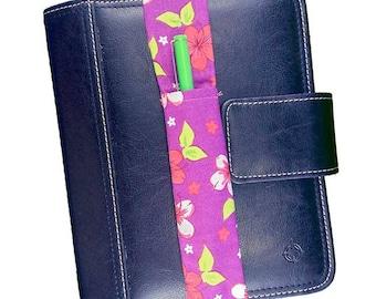 Pink Hibiscus Theme Pretty Pen Pocket Planner Band Pen Holder