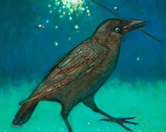 Sparkler Junior Crow art PRINT no. 50 c-print 8 x 10