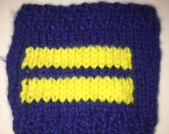 Equality stripes drink cosie/sleeve, gay pride, donation to Human Rights Campaign, LGBTQ